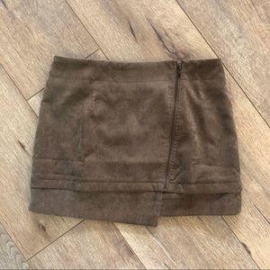 Dresses & Skirts - Tan corduroy mini skirt